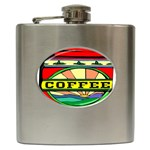 Coffee Tin A Classic Illustration Hip Flask (6 oz)