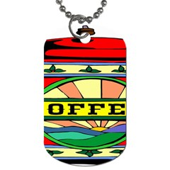 Coffee Tin A Classic Illustration Dog Tag (two Sides) by Nexatart