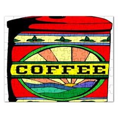Coffee Tin A Classic Illustration Rectangular Jigsaw Puzzl by Nexatart