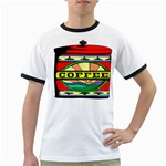 Coffee Tin A Classic Illustration Ringer T-Shirts