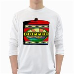 Coffee Tin A Classic Illustration White Long Sleeve T-Shirts