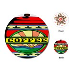 Coffee Tin A Classic Illustration Playing Cards (Round)