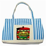 Coffee Tin A Classic Illustration Striped Blue Tote Bag