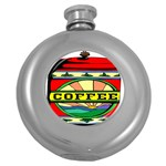 Coffee Tin A Classic Illustration Round Hip Flask (5 oz)
