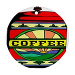 Coffee Tin A Classic Illustration Round Ornament (Two Sides)