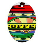 Coffee Tin A Classic Illustration Oval Ornament (Two Sides)