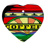 Coffee Tin A Classic Illustration Heart Ornament (Two Sides)