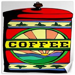 Coffee Tin A Classic Illustration Canvas 12  X 12   by Nexatart
