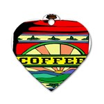Coffee Tin A Classic Illustration Dog Tag Heart (Two Sides)