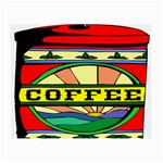 Coffee Tin A Classic Illustration Small Glasses Cloth (2-Side)