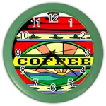 Coffee Tin A Classic Illustration Color Wall Clocks