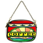 Coffee Tin A Classic Illustration Chain Purses (One Side)