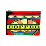 Coffee Tin A Classic Illustration Cosmetic Bag (Large)