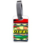 Coffee Tin A Classic Illustration Luggage Tags (One Side)