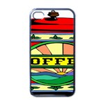 Coffee Tin A Classic Illustration Apple iPhone 4 Case (Black)