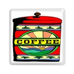 Coffee Tin A Classic Illustration Memory Card Reader (Square)