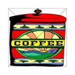 Coffee Tin A Classic Illustration Acrylic Tangram Puzzle (6  x 6 )
