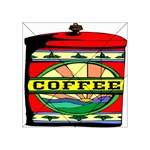 Coffee Tin A Classic Illustration Acrylic Tangram Puzzle (4  x 4 )
