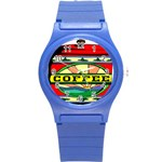 Coffee Tin A Classic Illustration Round Plastic Sport Watch (S)