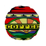 Coffee Tin A Classic Illustration Standard 15  Premium Round Cushions