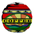 Coffee Tin A Classic Illustration Large 18  Premium Round Cushions