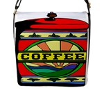 Coffee Tin A Classic Illustration Flap Messenger Bag (L)