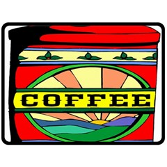 Coffee Tin A Classic Illustration Double Sided Fleece Blanket (large)  by Nexatart