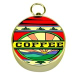 Coffee Tin A Classic Illustration Gold Compasses