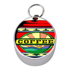 Coffee Tin A Classic Illustration Mini Silver Compasses by Nexatart