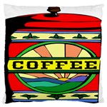 Coffee Tin A Classic Illustration Large Flano Cushion Case (One Side)