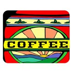 Coffee Tin A Classic Illustration Double Sided Flano Blanket (Large)