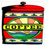 Coffee Tin A Classic Illustration Large Satin Scarf (Square)