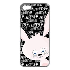 Easter Bunny  Apple Iphone 5 Case (silver) by Valentinaart