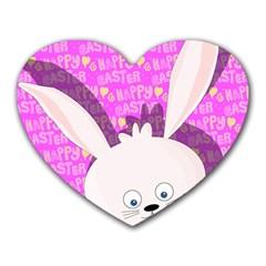 Easter bunny  Heart Mousepads