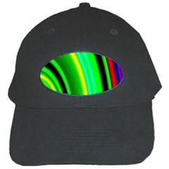Multi Colorful Radiant Background Black Cap by Nexatart