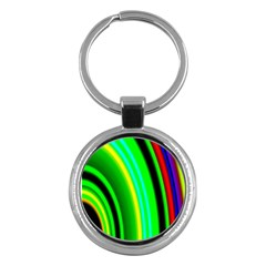 Multi Colorful Radiant Background Key Chains (Round)  by Nexatart