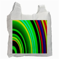 Multi Colorful Radiant Background Recycle Bag (two Side)  by Nexatart