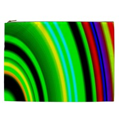 Multi Colorful Radiant Background Cosmetic Bag (xxl)  by Nexatart