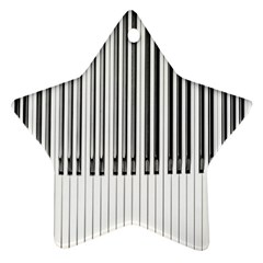 Abstract Piano Keys Background Ornament (Star)