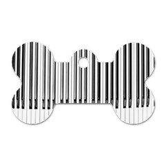 Abstract Piano Keys Background Dog Tag Bone (two Sides) by Nexatart