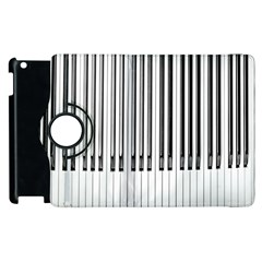 Abstract Piano Keys Background Apple Ipad 3/4 Flip 360 Case by Nexatart