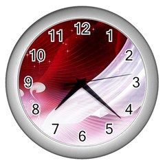 Dreamworld Studio 2d Illustration Of Beautiful Studio Setting Wall Clocks (silver)  by Nexatart