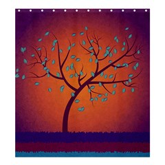 Beautiful Tree Background Shower Curtain 66  X 72  (large)  by Nexatart