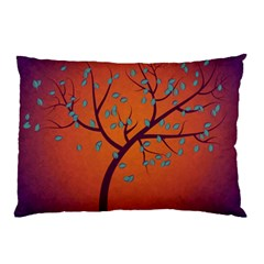 Beautiful Tree Background Pillow Case (two Sides) by Nexatart