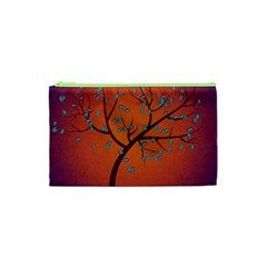 Beautiful Tree Background Cosmetic Bag (xs) by Nexatart