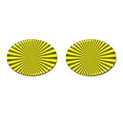 Sunburst Pattern Radial Background Cufflinks (oval) by Nexatart