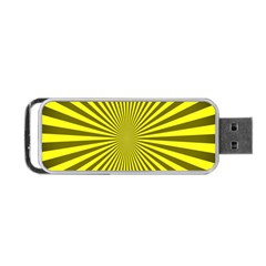 Sunburst Pattern Radial Background Portable Usb Flash (two Sides) by Nexatart