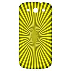 Sunburst Pattern Radial Background Samsung Galaxy S3 S Iii Classic Hardshell Back Case by Nexatart