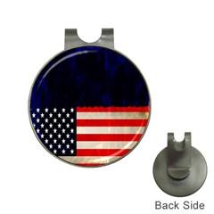Grunge American Flag Background Hat Clips With Golf Markers by Nexatart
