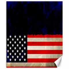 Grunge American Flag Background Canvas 20  X 24   by Nexatart
